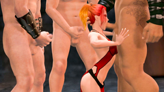 Gang of brutal mens extreme fucking dirty redhead woman in all her holes