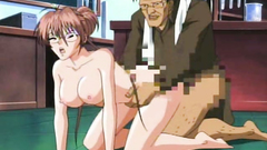 Handsome secretary gets banged hard from behind