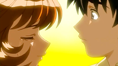 Romantic love story of young anime teens