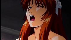 Many hard cocks for redhead seductive babe
