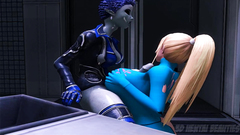 Futanari fuck on the space ship in 3d cartoon