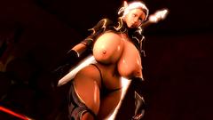 Elvish warrior princess has really huge tits