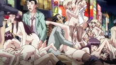 Crazy hentai orgy with incredibly group fuck