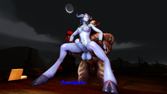 Draenei with Orc