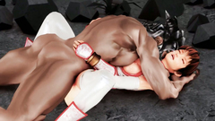 Hungry Barbarian fucked deep in the mouth young redhead beauty