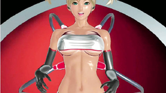 Horny gameplay blonde with big breasts smeared with sperm