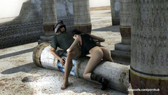 Military guy cruelly fucked Lara Croft