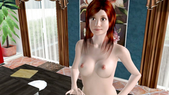 Redhead 3D Ginevra Weasley deeply blows Harry Potter dick