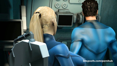 Mister Fantastic feeding Invisible Woman his very long cock