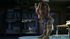 The Incredible 3D Hulk fucks his secretary in her mouth