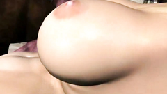 Blonde 3d girl with big tits gets pounded in her anal holes