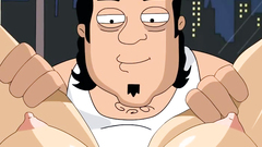 Louis Griffin turns to gungster for some threesome toon action    Family Guy