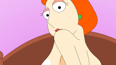 Louis from the Family Guy spotted in some cartoon hardcore porn