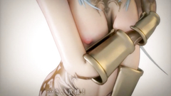 Busty 3d beauty with gorgeous body spreads her legs in hot porn