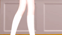 Skinny ass of a horny anime school girl looks hot and great to fuck