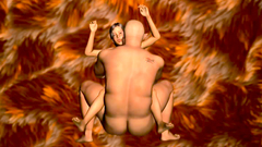 Kinky dude with hung dick fucks young 3d babe