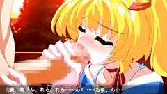 Lovely blonde teen improves her skills in handjob and blowjob