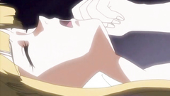 Blonde hentai babe spreads legs for pounding