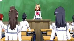 Sinful schoolgirls feeling very horny in this toon
