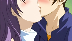 Young and lovely teens in passionate hentai cartoon