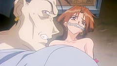 Evil rapist fucks tied up beautiful hentai woman