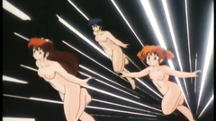 Naked anime babes know how to fly - hentai video
