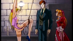 Young and sexy girls in BDSM hentai cartoon