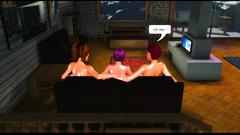 Hardcore threesome 3D futanari fuck in video