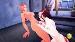 Fantasy female girls with big cocks in 3d cartoon