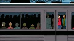 Public fuck in the subway train - hentai cartoon