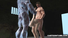 Muscular creatures 3some fuck naked 3d babe