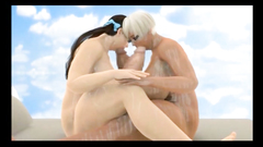Two futanaris 3D with bigboobs facialed