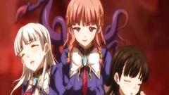 Japanese shemale anime coeds threesome fucking