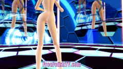 3D Little Blonde Loli Dancing and Teasing