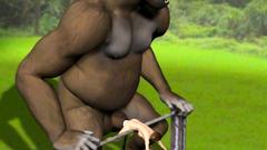 King Kong fucks his brunette sacrifice
