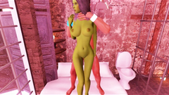 3D Busty Demon Girl Fucked In Prison!
