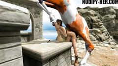 Lara Croft Horse Fatality (All the way through)