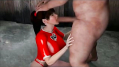 3D Girl Throated by an Ogre
