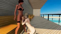 Lesbian Tgirls in 3D Sex Game